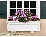 24 Inch XL Paloma Premier No Rot PVC Composite Flower Window Box w/ 2 Decorative Brackets