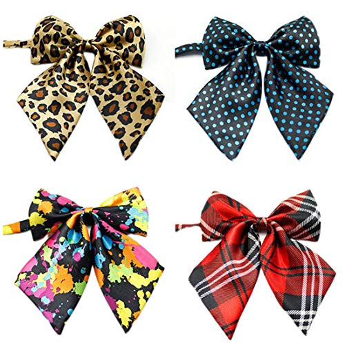 Ez-sofei Girls School Uniform Bow Ties Multicolor Cosplay Accessory (Pack of 4) by Ez-sofei