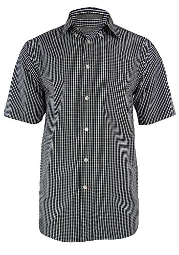 (Daniel Cremieux Signature Collection Men's Check Seersucker Shirt (S, Black))