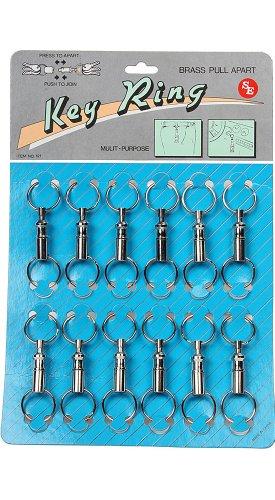 SE Key Ring Set - Pull Apart, 12 Pc - 121SKP