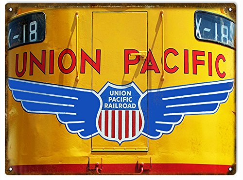 Victory Vintage Signs Union Pacific Engine Railroad Sign ()