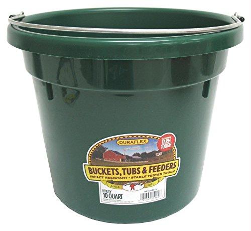 (Little Giant Dura-Flex Plastic Utility Bucket, 10-Quart, Green)
