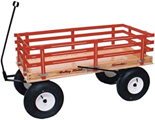 product image for Saving Shepherd Easy Roll Pull Wagon with Hand Brake Made in USA (Blue)