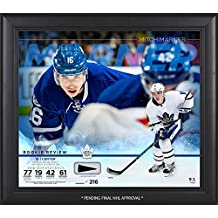 """Mitch Marner Toronto Maple Leafs Framed 15"""" x 17"""" Rookie Review Collage with Piece of Game-Used Puck - Limited Edition of 216 - Fanatics Authentic Certified"""