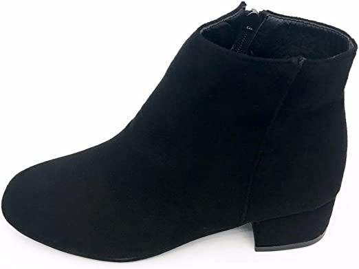 Mujer medio talón tobillo DoraMe botas cremallera plataforma ...