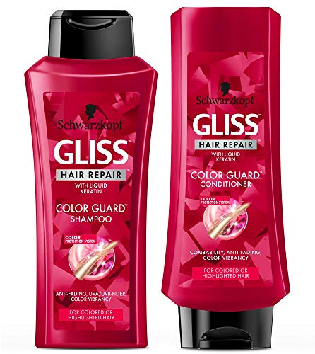 GLISS Hair Repair Color Guard Set with Shampoo and Conditioner for Colored or Highlighted Hair, Set of 2 (Best Conditioner And Shampoo For Colored Hair)