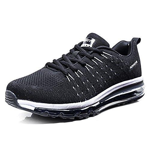 Ginnastica Respirabile Sportive Donna Da All'aperto Waliking Basse Scarpe Uomo Running Sneakers Nero Fexkean zIw6F1qXW5