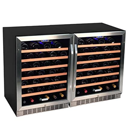 Edgestar CWR531SZDUAL 48 Inch Wide 106 Bottle Built-In Side-by-Side Wine Cooler