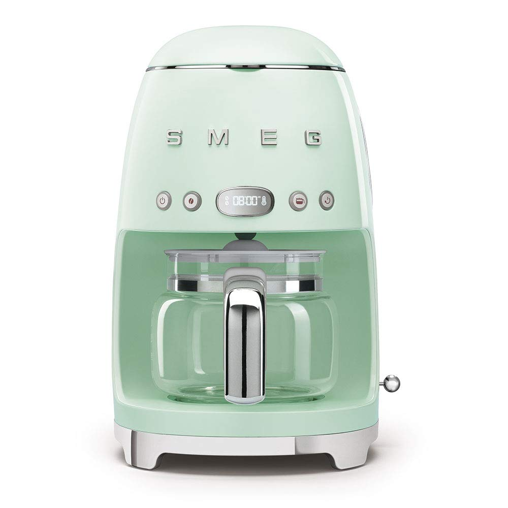 Pastel green retro SMEG coffee maker