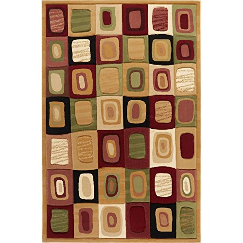 Evolution Area Rug by Home Dynamix 5102-102| Colorful, Abstract Design | Long Lasting, Durable, Fade and Stain Resistant | Indoor Rug for the Living Room, Dining Room, Bedroom and More! ,  8' x 10', Cream