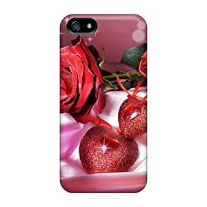 Durable The Shinning Rose With The Heat Back Case/cover For Iphone 5/5s