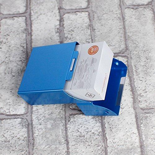 BEESCLOVER Fashion Creative Ultra Thin Cigaret Case Metal Cigarette Box Cigarette Holder Brown