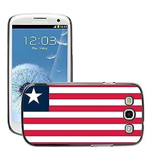 GoGoMobile Slim Protector Hard Shell Cover Case // V00001104 Liberia National Country Flag // Samsung Galaxy S3 S III SIII i9300