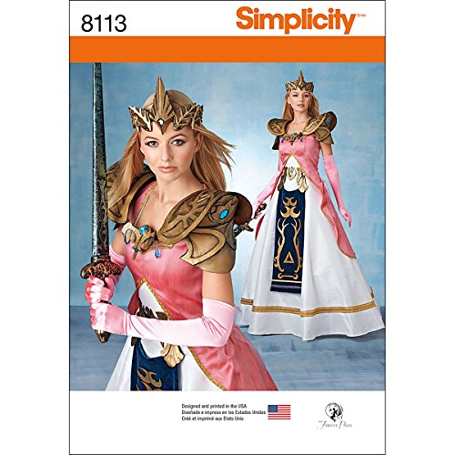 Simplicity Creative Patterns 8113 Misses' Costume with Craft Foam Armor, Belt & Crown Size: R5 -