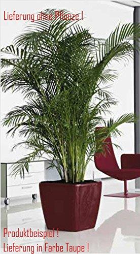 Blumenübertopf Quadro Premium, für Innen geeignet, Farbe Taupe, 50x50x47cm