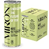 Mirón Kiwi Passionfruit All Natural Sparkling Energy Beverage 8.4 Fl.Oz. Cans (Pack of 4)