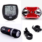 Dcolor 5 LED Front Bike HeadLight + 9 LED Rear Flashlight + Wireless Bike Speedometer Review