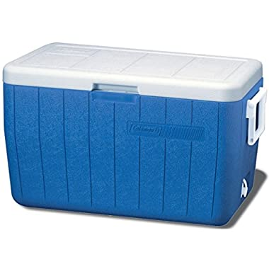 Coleman 48 Quart Performance Cooler Holds 63 Cans, Blue