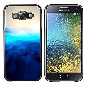 Jordan Colourful Shop - Blue Sun For Samsung Galaxy E5 E500 Personalizado negro cubierta de la caja de pl????stico