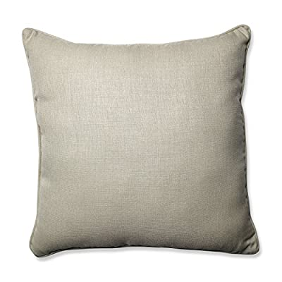 """Pillow Perfect Outdoor/Indoor Rave Driftwood Floor Pillow, 25"""" x 25"""", Tan - Includes one (1) outdoor floor pillow, resists weather and fading in sunlight; suitable for indoor and outdoor use Plush fill - 100-percent polyester fiber filling Edges of outdoor pillows are trimmed with matching fabric and cord to sit perfectly on your outdoor patio furniture - patio, outdoor-throw-pillows, outdoor-decor - 511oqOiXkNL. SS400  -"""