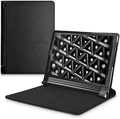 kwmobile Case for Lenovo Yoga Tab 3 Plus - Slim PU Leather Protective Tablet Cover with Stand Feature - Black