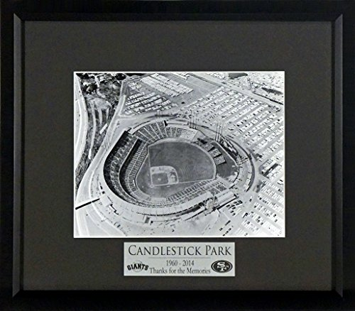 San Francisco Giants Candlestick Park B/W 8x10 Photo Display with