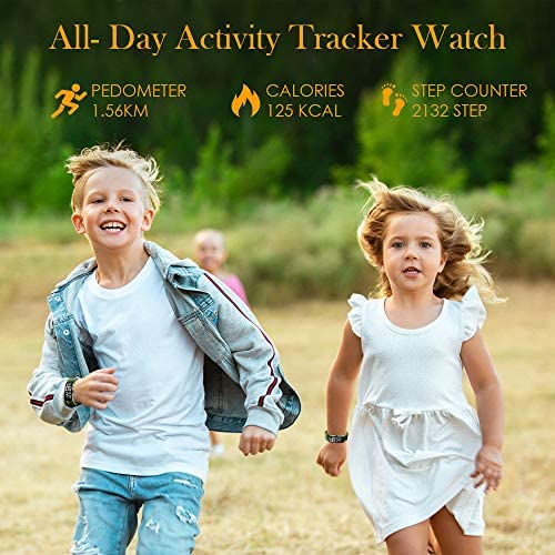 Kids Fitness Tracker Watch, AKIVIDA Activity Tracker Pedometer Bracelet with Alarm Clock Calorie Step Counter Sport Watch Gift for Kids Girls Boys Teens 3
