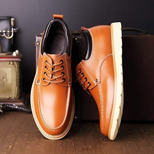 estive la WFL uomo scarpe da scarpe stringate da pelle uomo spessa in da Scarpe uomo suola scarpe Giallo casual con rAwxqS8gwI