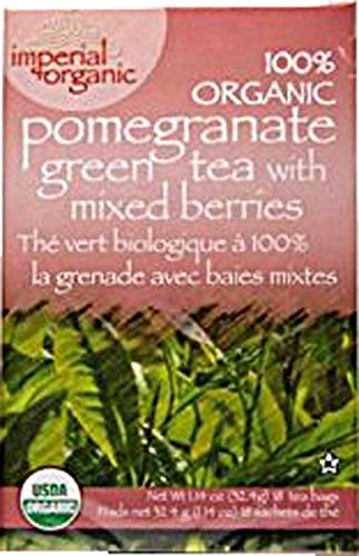 Uncle Lee's Tea 100% Organic Pomegranate Green Tea with Mixed Berries 18 Bag(S)