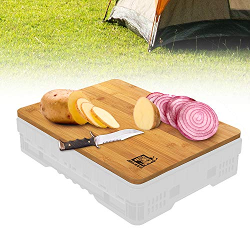 BIGANT Wooden Cutting Board – Heavy Duty Butcher Block for Chopping Meat, Cheese, and Vegetables. Perfect for Kitchen or Travel Use (11.5 x 15.5)
