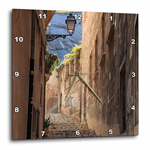 3dRose Danita Delimont - Architecture - Spain, Balearic Islands, Mallorca, Palma de Mallorca, street scenes - 10x10 Wall Clock (dpp_277903_1) by 3dRose