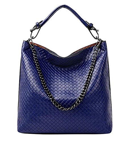 Mesdames Femmes poches Multiples épaule Main Poignée à Mode YouPue Supérieure Mode Bleu Sac ItTHdqwSx