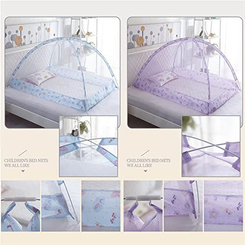 Keebgyy Baby Crib Dome Tent for Bed,Mosquito Tent Infant Baby Bed Portable Mosquito Net for Toddler Travel