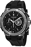 Concord C2 Automatic Chronogrph Men's Black Rubber Strap Swiss Made Watch 0320188