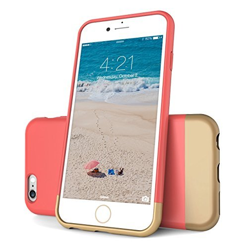 Price comparison product image Flexion Euphoria Series Scratch Proof Soft Interior Hard Case for iPhone 6 (4.7-Inch) - Rose / Gold
