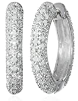 Sterling Silver Diamond Hoop Earrings (1/2 cttw, H-I Color, I2-I3 Clarity) by Delmar Mfg LLC