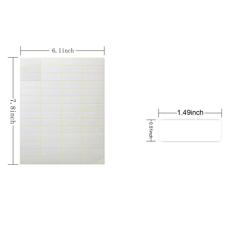 Etiquetas multiuso,Etiquetas Adhesivas Pegatinas,Etiqueta Rectangular Blanca,13 x 38 mm Paquete de 1680