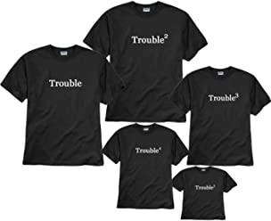 f8bd52c0d4 Trouble and Trouble Squared Father and Son T-shirts
