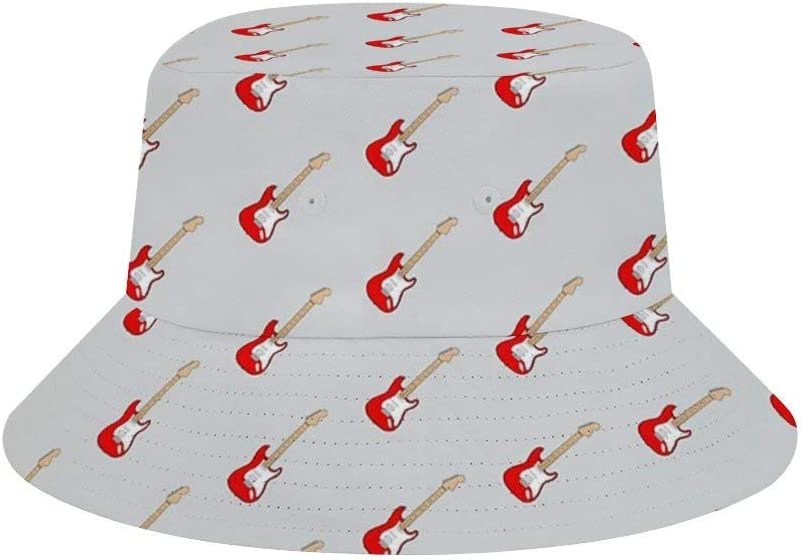 NOT Calcetines Unisex con diseño de Guitarra eléctrica, Color Rojo, para Verano, Mujeres, Hombres y Mujeres, Gorra de Pescador, Gorra de Viaje, Playa, Sol al Aire Libre