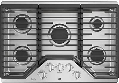 GE Profile PGP7030SLSS 30 Inch Natural Gas Sealed Burner Style Cooktop with 5 Burners in Stainless Steel