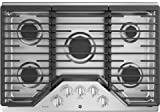 Appliances : GE Profile PGP7030SLSS 30 Inch Natural Gas Sealed Burner Style Cooktop with 5 Burners in Stainless Steel