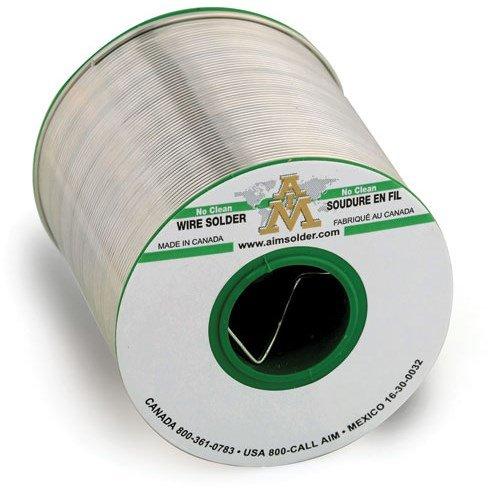 AIM Solder SAC305-GLOW-032-2.5%-1 Glow Core No-Clean Wire Solder, 1lb Spool