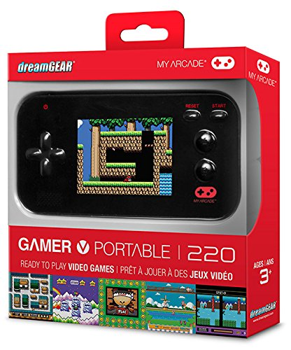 "My Arcade Gamer V Portable Gaming System - 220 Built-In Retro Style Games and 2.4"" LCD Screen – Black"