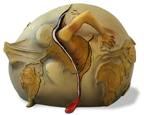 Geopolitical Child Watching The Birth of The New Man 1943 – Salvador Dali – Small 3.5 x2.5 x 2.5 – Resin Statue – Made in the USA