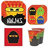 Ninja Master Standard Party Packs (65+ Pieces for 16 Guests!), Ninjago-Inspired Birthday Sets, Ninjago Tableware Packs, Birthday Party Decorations