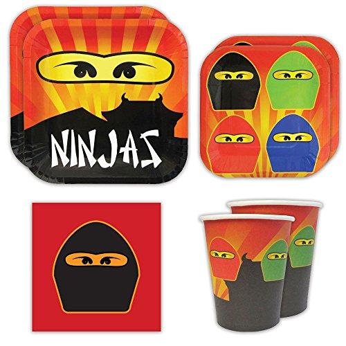 Ninja Master Standard Party Packs (65+ Pieces for 16 Guests!), Ninjago-Inspired Birthday Sets, Ninjago Tableware Packs, Birthday Party (Ninjago Party Supplies Party City)