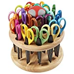 ECR4Kids Kraft Edgers Craft Scissor Set - Decorative Paper Edger Scissors with with Rotating Stand - For Kids, Teachers, Scrapbookers, DIY Projects (18 Pairs)