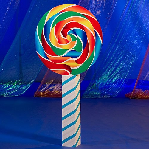 6 ft. Short Lollipop Candy Prop Standup Photo Booth Prop Background Backdrop Party Decoration Decor Scene Setter Cardboard -
