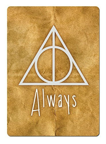 Deathly Hallows Always PAPER Metal Wall Sign Plaque Art Inspirational Potter