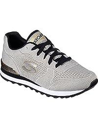 Skechers Fashion Sneakers Womens 36 EU Grey Gold Canvas